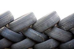 Mur hors des pneus Images stock