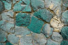 Mur inégal de pierre de turquoise image libre de droits