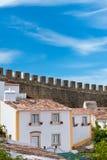Mur intérieur d'Obidos photos libres de droits
