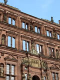 Mur intérieur de château d'Heidelberg Photo stock