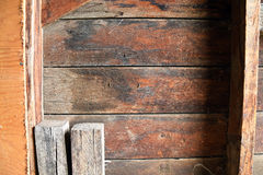 Mur intérieur de grange Images libres de droits