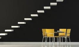 mur intérieur de conception noire Images libres de droits