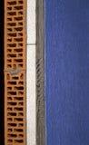 Mur isolé avec la mousse de styrol image stock