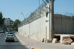mur israélien de séparation photos stock