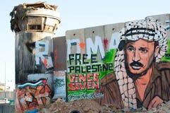 mur israélien de séparation Image stock