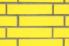 Mur jaune Photos libres de droits