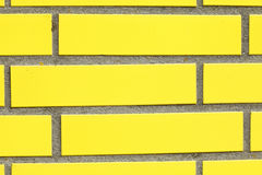 Mur jaune Photographie stock