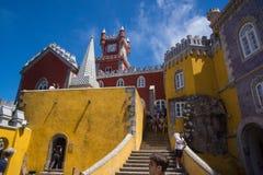 Mur jaune de pena du DA de château photo stock