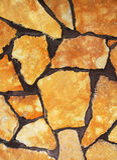 Mur jaune en pierre Image stock