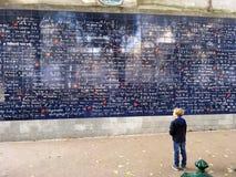Mur je t'aime de Paris Photos stock
