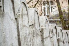 Mur juif de ghetto, Cracovie, Pologne images libres de droits