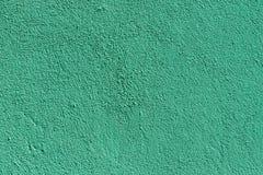 Mur léger de plâtre de vert de mer avec la vieille texture photos stock
