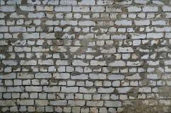 Mur laid de la brique blanche Photographie stock