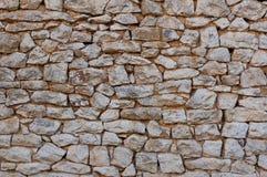 Mur libanais indigène de pierre à chaux Photographie stock libre de droits