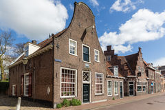 Mur médiéval Koppelpoort de ville d'Amersfoort et la rivière d'Eem Image stock