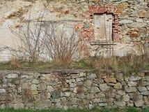 Mur médiéval, Siedlecin, Pologne Photographie stock