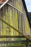 Mur moussu de grange Photos libres de droits