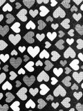 Mur noir blanc d'amour de coeur Photos libres de droits