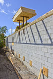 Mur nouvellement construit Photographie stock