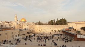 Mur occidental de l'Israël, Jérusalem Le mur occidental, mur pleurant, le tombeau juif, vieille ville de Jérusalem, les juifs ort banque de vidéos