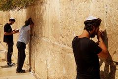 Mur occidental, section masculine, vieux Jérusalem 2018 images stock