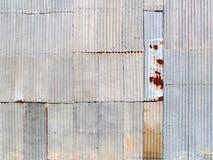 Mur ondulé en métal Images stock