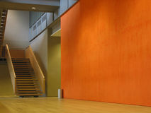 Mur orange Photo libre de droits