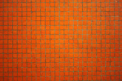 Mur orange de tuile Image libre de droits