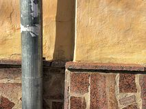 Mur, mur orange, fond, trompette photos stock