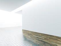 Mur panoramique vide dans l'intérieur de musée avec photographie stock libre de droits