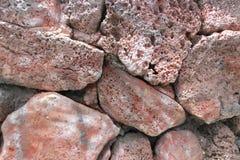 Mur par les roches colorées chez Hawaï photographie stock
