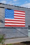 Mur patriotique de bâtiment Image libre de droits