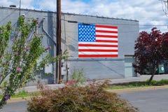 Mur patriotique de bâtiment Photos libres de droits
