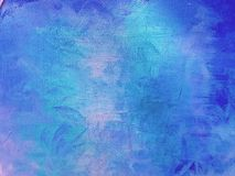 Mur peint abstrait bleu de fond photographie stock libre de droits