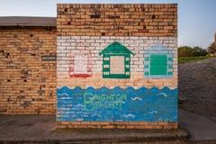 Mur peint chez Brighton Beach image stock