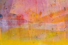 Mur peint jaune et rouge Photographie stock