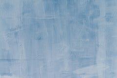 Mur plâtré, teinture bleue, travail de réparation, texture et fond Photo libre de droits