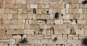 Mur pleurant de Jérusalem - plan rapproché Images stock