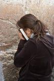 Mur pleurant Jérusalem, prière Photo stock