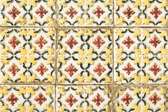 Mur portugais de maison de tuile Photos stock