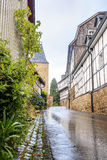 Mur prussien traditionnel dans l'architecture en Allemagne Image stock