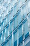 Mur rideau bleu Photos stock