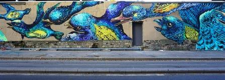 Mur Rosa Parks pintada com arte da rua por muralists famosos em Paris Fotos de Stock Royalty Free