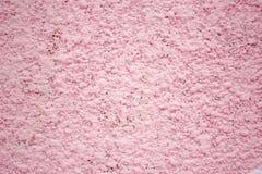Mur rose, plâtre de texture, surface en béton comme fond Photographie stock