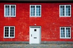 Mur rouge Photographie stock libre de droits