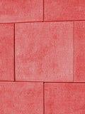 Mur rouge de bloc Images libres de droits