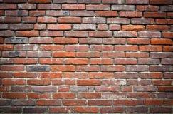 Mur rouge de grundge Image libre de droits