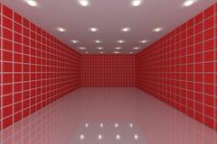 Mur rouge de tuile Photo libre de droits