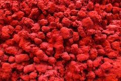 Mur rouge Pl?tre de texture images stock
