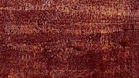Mur rouillé dans le garage rouge banque de vidéos